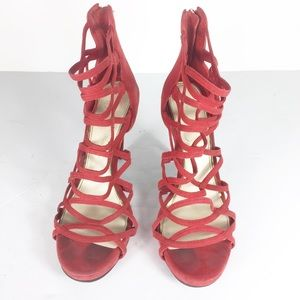 Jessica Simpson Red Strappy Criss Cross Heels